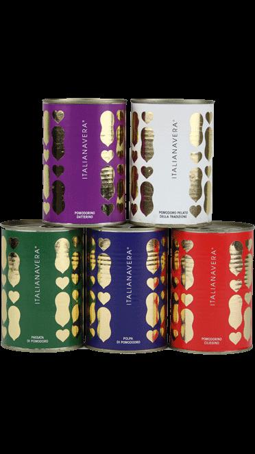 5er-Set Italianavera Tomaten Gold Edition – 5 x 400 g