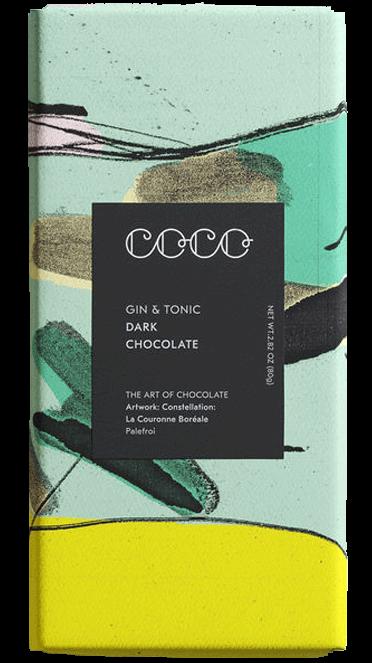 Gin & Tonic Dark Chocolate 80 g