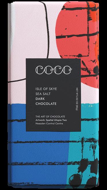 Isle of Skye Sea Salt Dark Chocolate 80 g