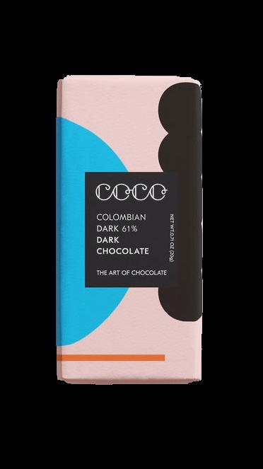 Mini Colombian Dark Chocolate 61% 20 g